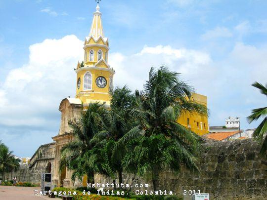 La puerta del reloj, que da acceso a la plaza donde los esclavos eran vendidos en tiempo de la colonia.